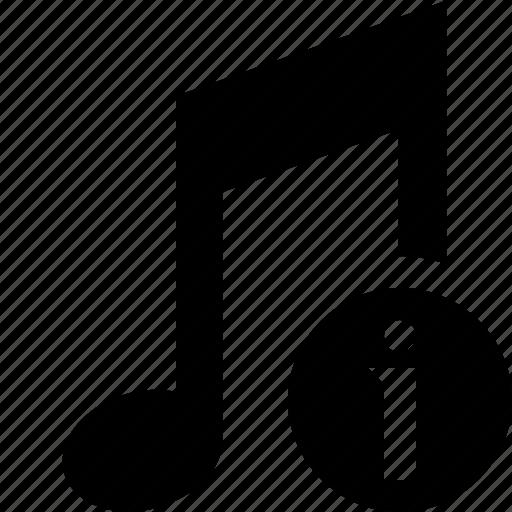 audio, information, multimedia, music, note, sound icon