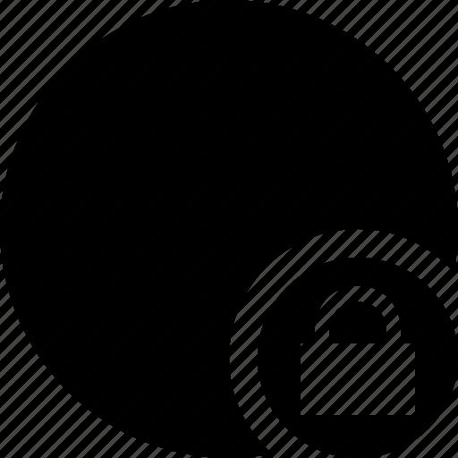 lock, marker, object, pin, point, shape icon
