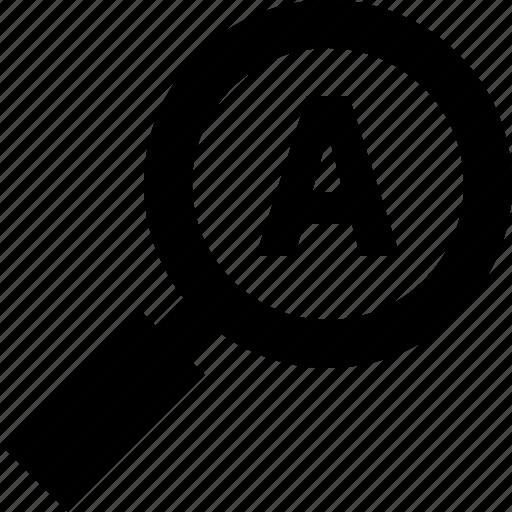 auto, magnifier, search, zoom icon