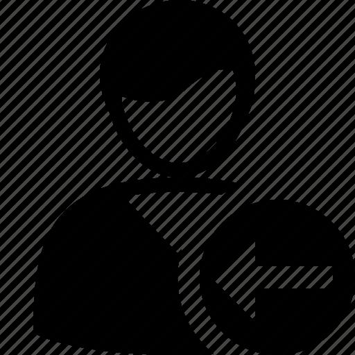 account, client, male, previous, profile, user icon