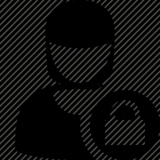 account, female, lock, profile, user, woman icon