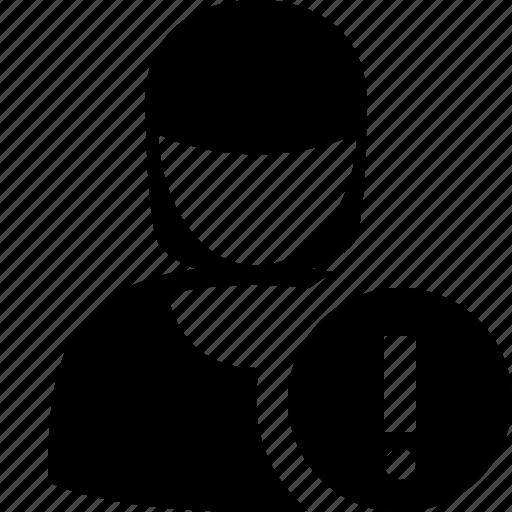 account, female, profile, user, warning, woman icon