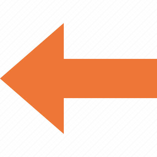 arrow, back, direction, left, navigation, yellow icon