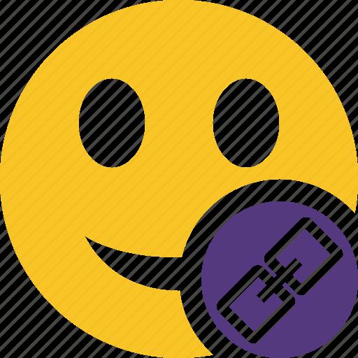 emoticon, emotion, face, link, smile icon