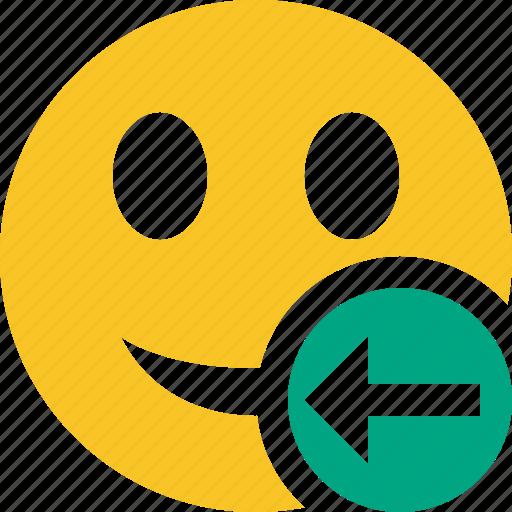 emoticon, emotion, face, previous, smile icon