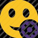 emoticon, emotion, face, settings, smile
