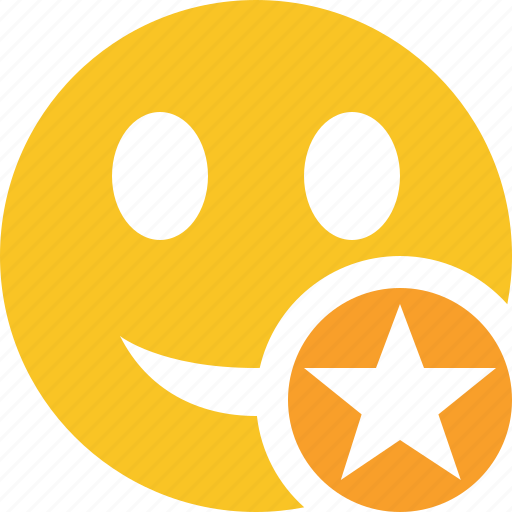 emoticon, emotion, face, smile, star icon