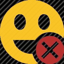cancel, emoticon, emotion, face, laugh, smile icon