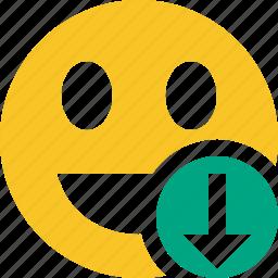 download, emoticon, emotion, face, laugh, smile icon