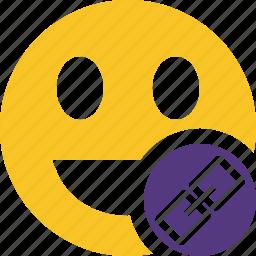 emoticon, emotion, face, laugh, link, smile icon