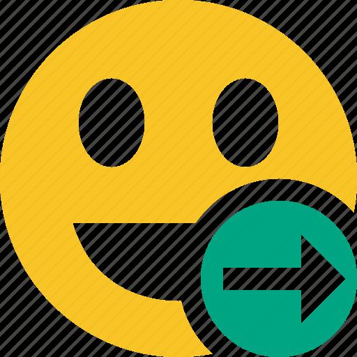 emoticon, emotion, face, laugh, next, smile icon