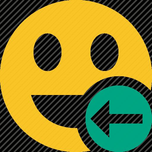 emoticon, emotion, face, laugh, previous, smile icon