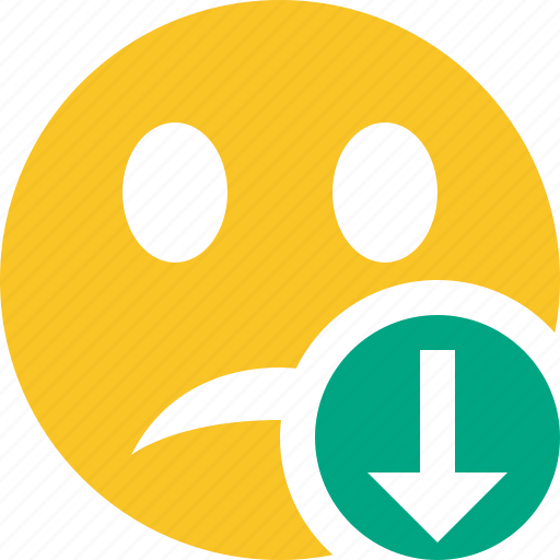 download, emoticon, emotion, face, smile, unhappy icon