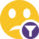emoticon, emotion, face, filter, smile, unhappy icon
