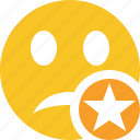 emoticon, emotion, face, smile, star, unhappy icon