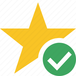 achievement, bookmark, favorite, ok, rating, star icon
