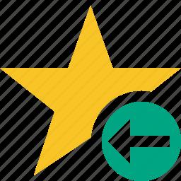 achievement, bookmark, favorite, previous, rating, star icon