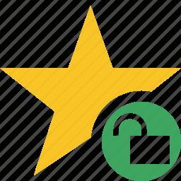 achievement, bookmark, favorite, rating, star, unlock icon