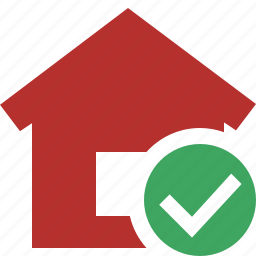 address, building, home, house, ok icon