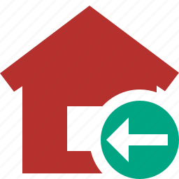 address, building, home, house, previous icon