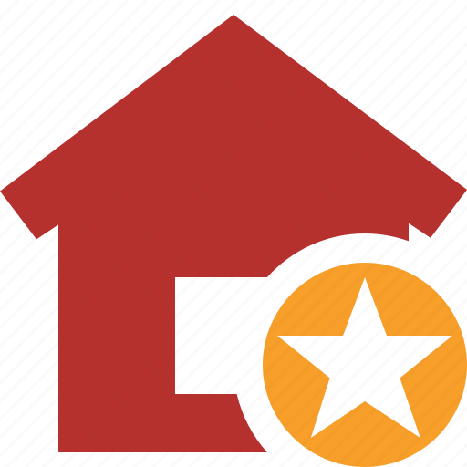 address, building, home, house, star icon