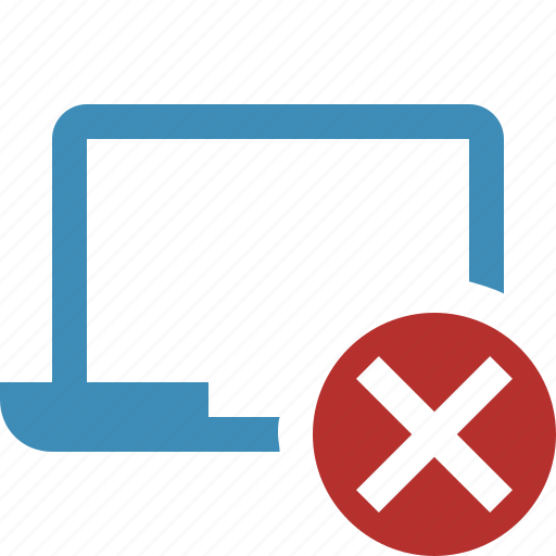 cancel, computer, laptop, notebook, pc, screen icon