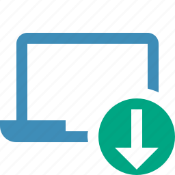 computer, download, laptop, notebook, pc, screen icon