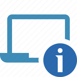 computer, information, laptop, notebook, pc, screen icon