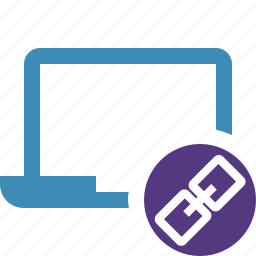 computer, laptop, link, notebook, pc, screen icon