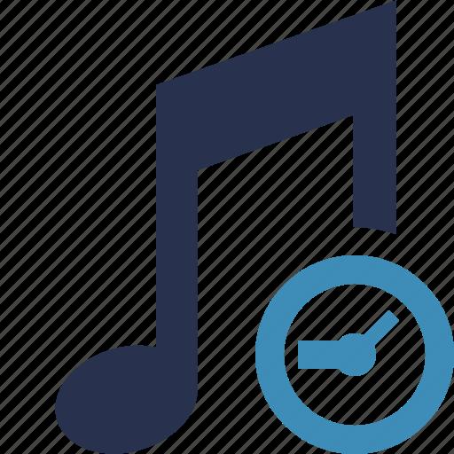 audio, clock, multimedia, music, note, sound icon