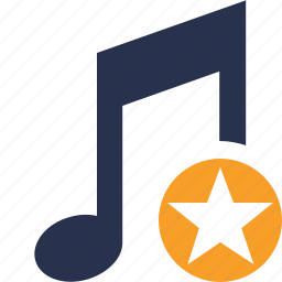 audio, multimedia, music, note, sound, star icon