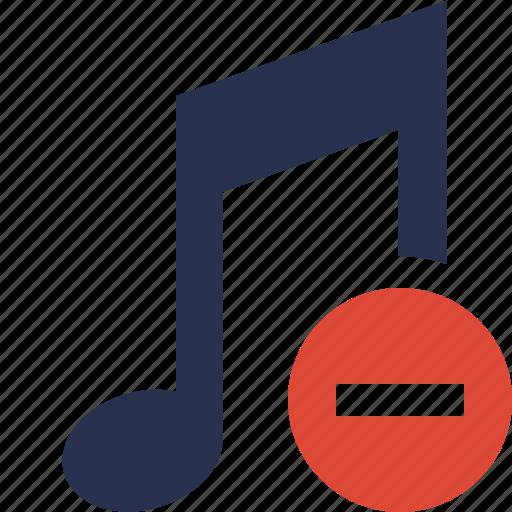 audio, multimedia, music, note, sound, stop icon