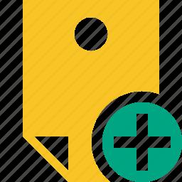add, document, memo, note, pin, reminder, sticker icon