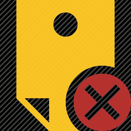 cancel, document, memo, note, pin, reminder, sticker icon
