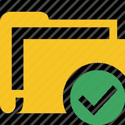 category, documents, file, folder, ok icon