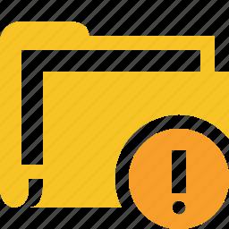 category, documents, file, folder, warning icon