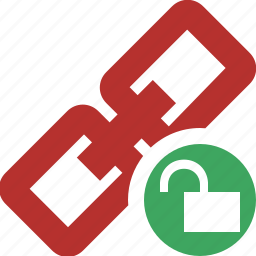chain, connection, link, unlock, url, web icon