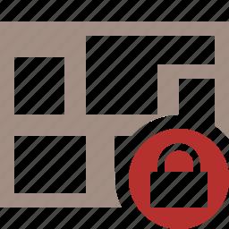 location, lock, map, navigation, travel icon