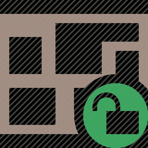 location, map, navigation, travel, unlock icon