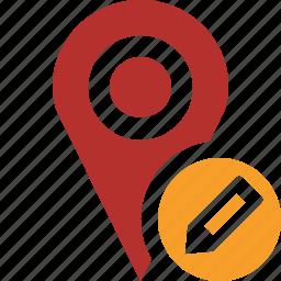 edit, gps, location, map, marker, navigation, pin icon
