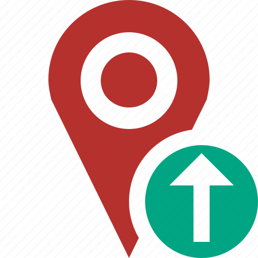 gps, location, map, marker, navigation, pin, upload icon
