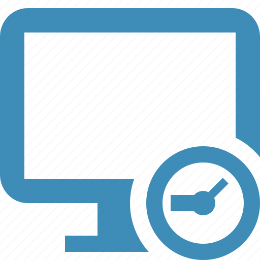 clock, computer, desktop, display, monitor, screen icon