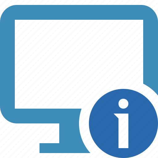 computer, desktop, display, information, monitor, screen icon