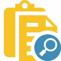 clipboard, copy, paste, search, task icon