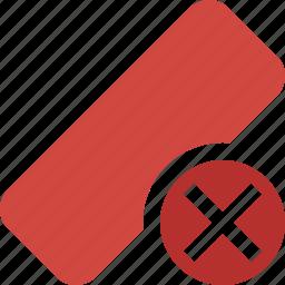 cancel, clean, delete, erase, eraser, remove, rubber icon