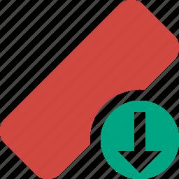 clean, delete, download, erase, eraser, remove, rubber icon