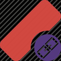 clean, delete, erase, eraser, link, remove, rubber icon