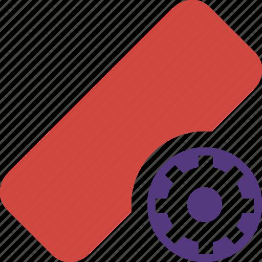 clean, delete, erase, eraser, remove, rubber, settings icon