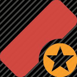 clean, delete, erase, eraser, remove, rubber, star icon