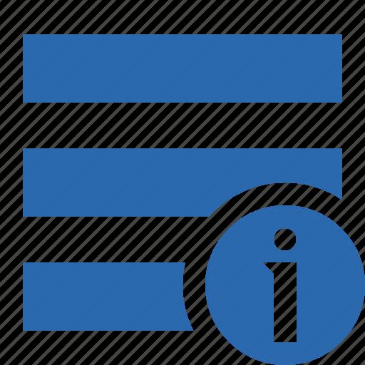 information, list, menu, nav, navigation, options, toggle icon